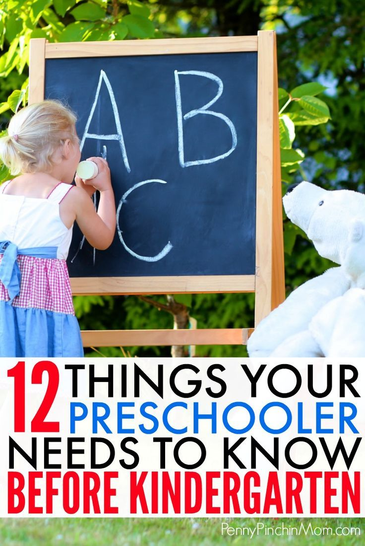 Education Tip  Help your preschooler get ready for kindergarten! Everything  you need to make sure your child knows before he or she starts kindergarten  ... db5e2f589b