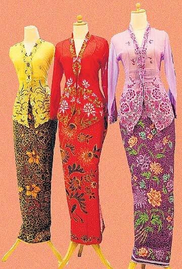 Colourful and elegant Nyonya Kebaya. - my culture!