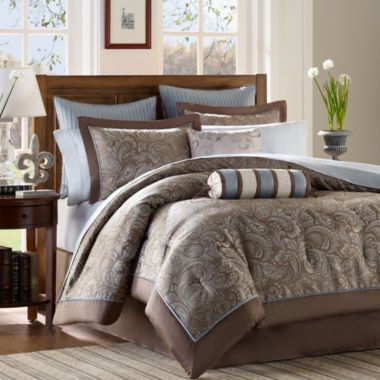 """<p>A pretty paisley pattern and striped accents bring instant charm to any decor when you refresh your bedroom with the Whitman complete bedding set with sheets.</p><div style=""""page-break-after: always;""""><span style=""""display: none;"""">"""