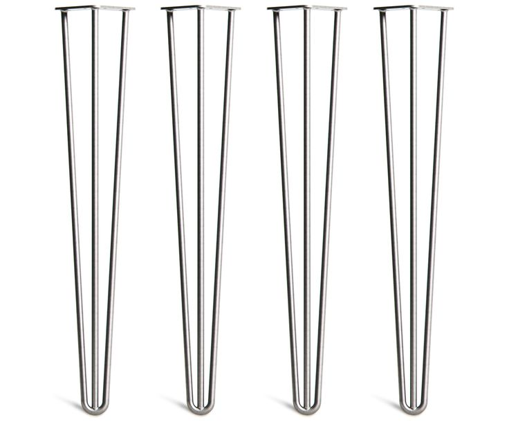 4 x Hairpin Legs - 28inch / 71cm - Desk & Dining Table - The Hairpin Leg Co.