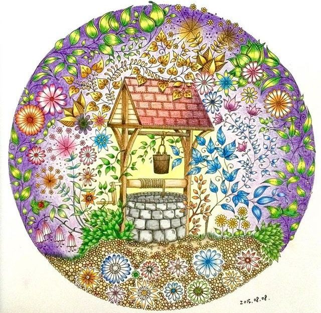 26 Best Images About Coloring Wishing Well On Pinterest
