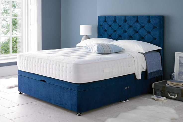 The main features of the Monte Carlo Ottoman Bed are: Divan style ottoman base Monte Carlo Floor Standing Headboard Upholstered in a choice of Chenille, Velvet (+ £20) or Faux Leather Fabric (+ £20) Choice of colours, pictured in the Silver Grey Velvet and Blue Velvet Platform top base Boarded ottoman base Superior quality Gas lift ottoman bed 26cm depth of storage space End lift or Side Lift Silver Feet Gliders The Monte Carlo Ottoman Bed is Self-Assembly