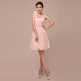 Buy 'Lotus Bride – One-Shoulder Rosette Cocktail Dress' with Free Shipping at YesStyle.com.au. Browse and shop for thousands of Asian fashion items from China and more!