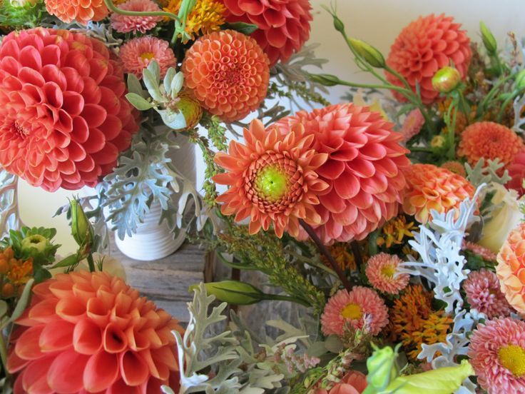 Coral Colored Flower Arrangements 40 best Joy'...