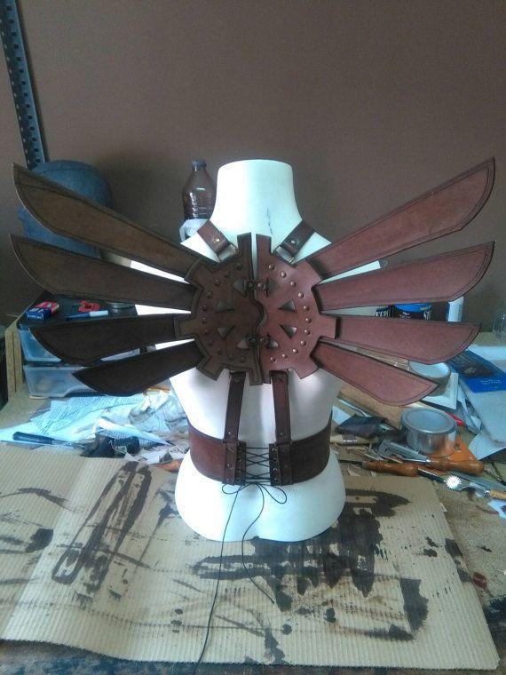 Steampunk leather wings by BlackbeardWorkshop on Etsy