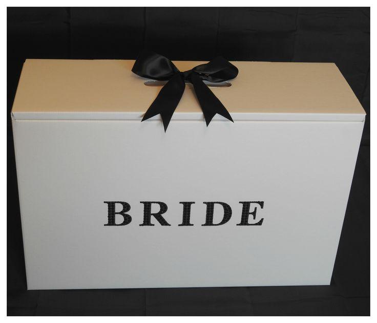 Black diamante bride wedding Dress box from www.bonbod.com