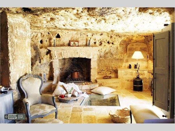 Masseria Montenapoleone, Puglia, Italy. Fortified 16th century farm, with some rooms carved out of the original caves and dwellings of first settlers.