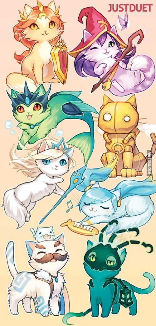 If league of legends characters were cats part 2: