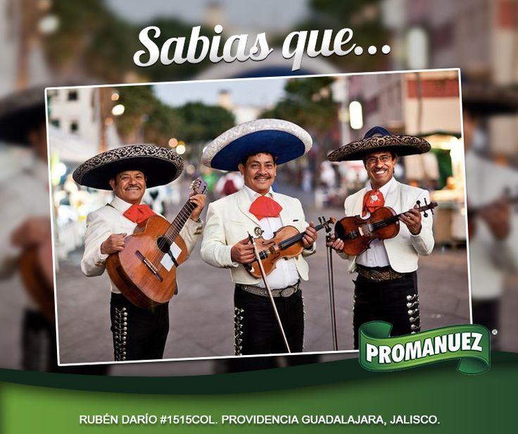 Sabías que el mayor número de mariachis en el mundo, se encuentra en Jalisco :o, visítanos, estamos en Guadalajara en Rubén Darío #1515, Col. Providencia. Guadalajara, Jal. Telefonos:(33)36-13-51-81 y prueba nuestros productos http://www.promanuez.com.mx/productos