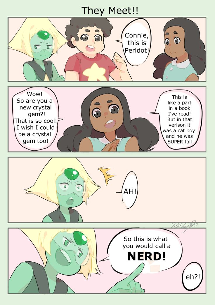 steven universe and connie meet