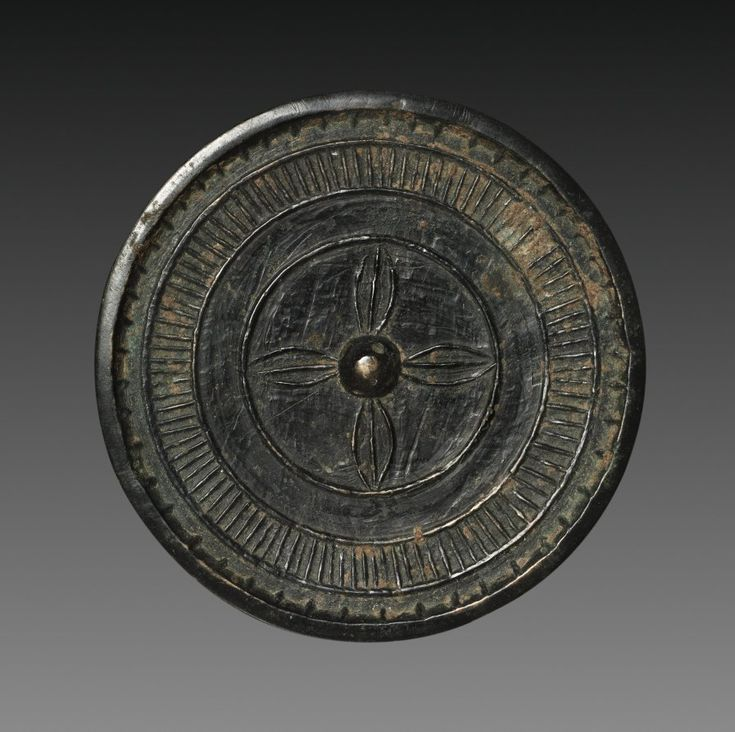 Mirror with Four Leaves, 1100s-1200s Eastern Anatolia or Northern Mesopotamia, 12th-13th century