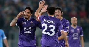 Juan Vargas anotó el gol de la Fiorentina en la final de la Copa Italia.