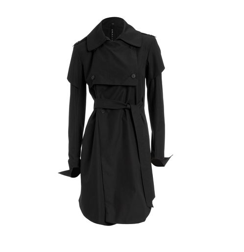 https://www.cityblis.com/9137/item/5581  water resistant trench women - $567 by www.umasan-world.com  Material top fabric : 100% Organic Cotton  Material lining : 100% Organic Cotton  •	Made in Germany •	Large spread collar, epaulet with button •	gun flap, slit pockets, double-breasted button-down front  •	Tailored at the waist with a belt •	water resistant garbadin  Articlenr. : ...