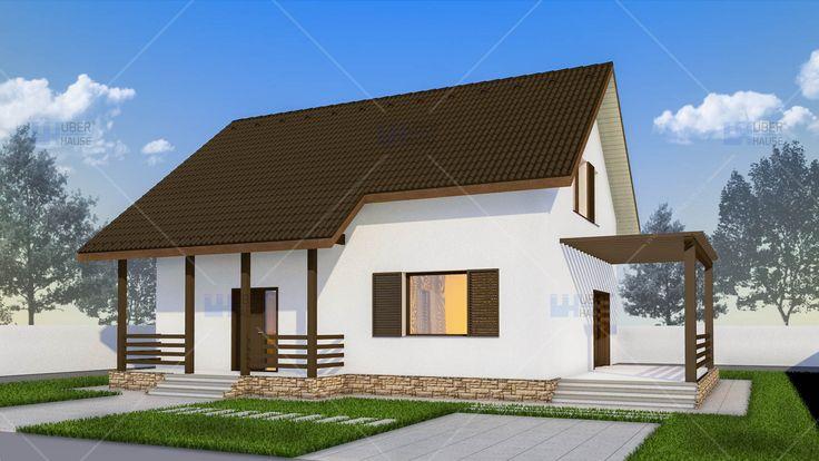Proiect casa Parter + Mansarda 128 m2 - Alpina. Mai multe detalii gasiti aici: https://www.uberhause.ro/proiect-casa-parter-plus-mansarda-128-m2-alpina