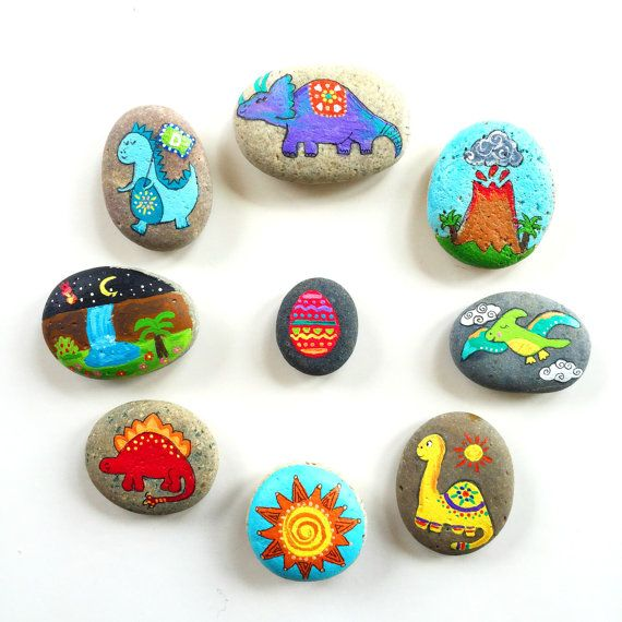 Story Stones and Painted Rocks / Dinosaur by Thrive360Living