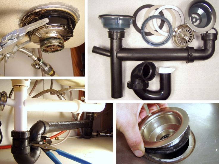 How to Remove & Fix a Kitchen Sink Drain Sink drain