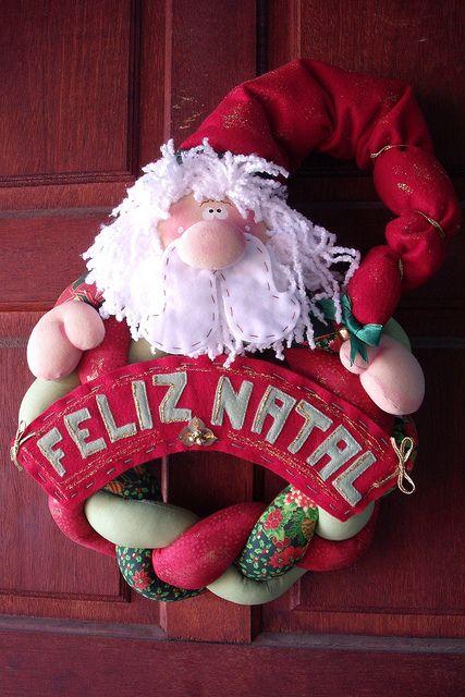 guirlanda noel com placa | encomendas pelo email: bonekika@g… | Flickr