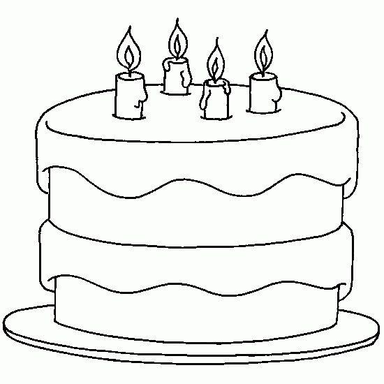Dessin Gateau D'anniversaire 4 Bougies Luxury Coloriage D ...