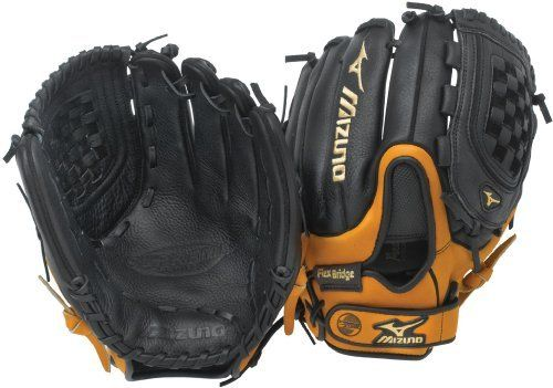 "Mizuno Supreme GSP1203 Softball Fielder's Mitt, Black/Almond, 12-Inch, Right Handed Throw by Mizuno. Save 8 Off!. $54.99. The Mizuno GSP1203 is a 12.00"" softball glove made from a high performance, full-grain leather shell in softball specific patterns. Features include PowerLock, PalmSoft, Flex Bridge, and Shock Grid Finger Cradle."