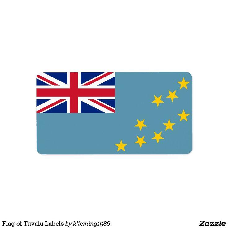 Flag of Tuvalu Labels