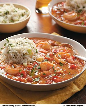 Shrimp Creole Soup   - onion, celery, bell pepper, garlic - chicken broth, diced tomatoes, lemon juice, worcestershire sauce, hot sauce, thyme, sugar, cayenne pepper, bay leaf - shrimp - rice or orzo