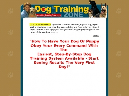 Dog Training Zone.