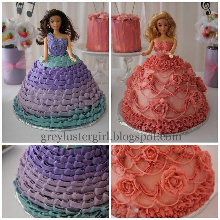 How To Make A Barbie Princess And The Popstar Cake