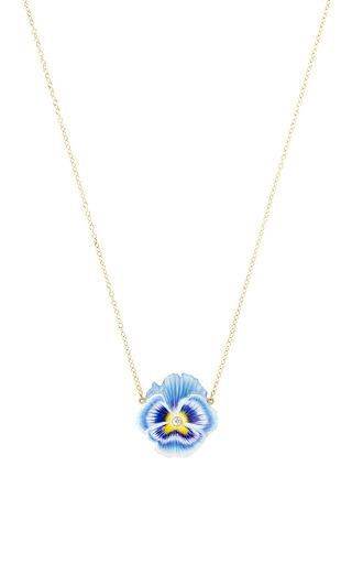 Pansy necklace by ALISON LOU for Preorder on Moda Operandi