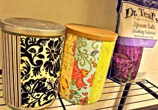 Save the Candle Jars: Upcycling Candle Jars. Wrap with craft/scrapbooking papers, ribbons, labels. Use to store craft items, tea bags, etc...