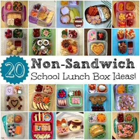 20 Non-Sandwich School Lunch Ideas for Kids!