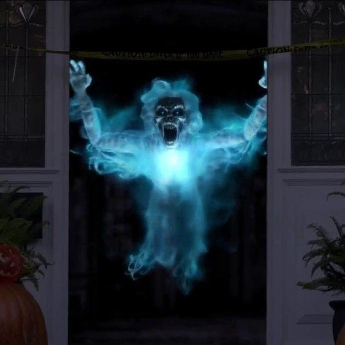 AtmosFX Phantasms Digital DecorationDisplay spooky scenes on your TV or projector.Choose Unliving Portraits, Zombie Invasion, Jack O' Lantern Jamboree, or Phantasms.Material for projecting on windows and into thin air also availableProduct SpecificationsAtmosFX Digital Decoration DVDsDVDs create spooky scenes on your TV, monitor, wall, in thin air, or right on the surface of pumpkins or fabric ghosts!Bring your haunted house decorations to lifePerfect for Halloween or any spooky…
