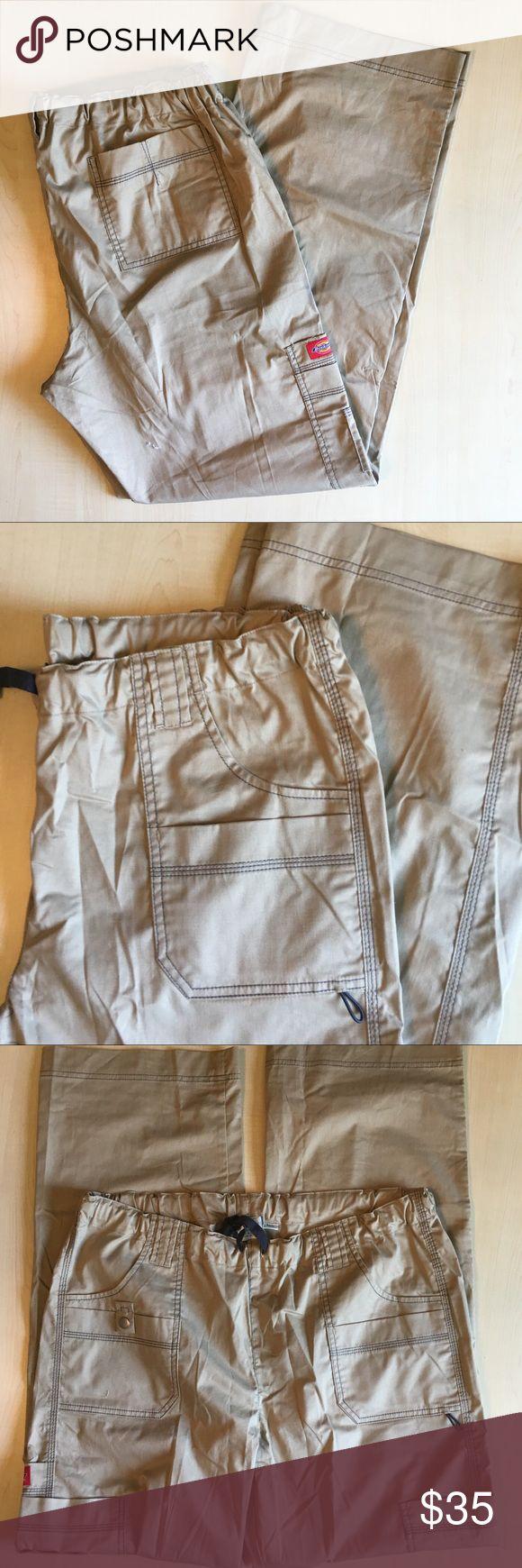 NWOT Dickies Gen Flex Scrubs Cargo Pants NWOT Dickies Cargo Tall Khaki Scrubs Pants  Style 857455T   Condition: no rips no tears -R- Dickies Pants Cargo