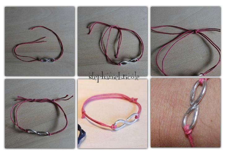 bracelet noeud coulant diy