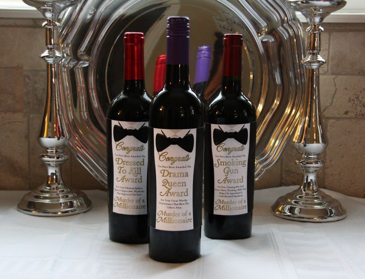 Get these wine labels to use as awards at your murder of a for Secret dinner party