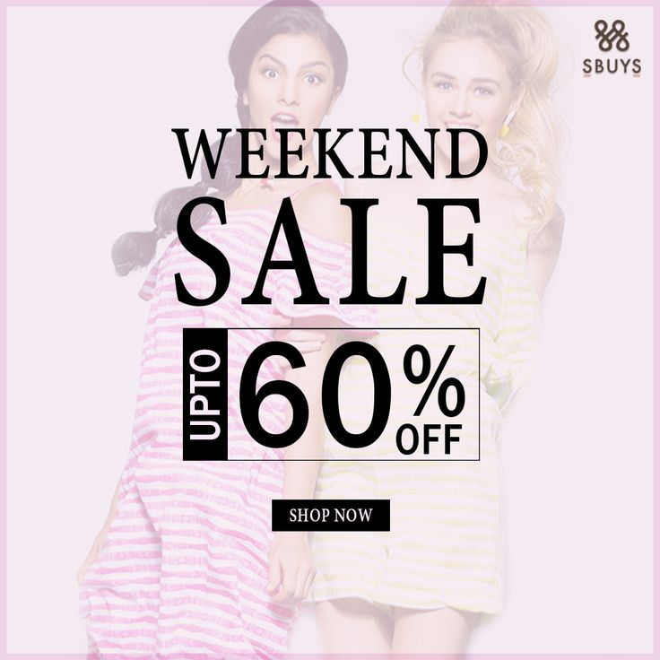 Weekend + Sale = Weekend with benefits. UPTO 60% OFF Shop for the collection @ http://www.sbuys.in #sbuys #womenswear #stylediva #latesttrends #fashionistas #newcollection #elegant #urbanstylewear #springseason #huesandtints #newarrivals #summers #discountseason
