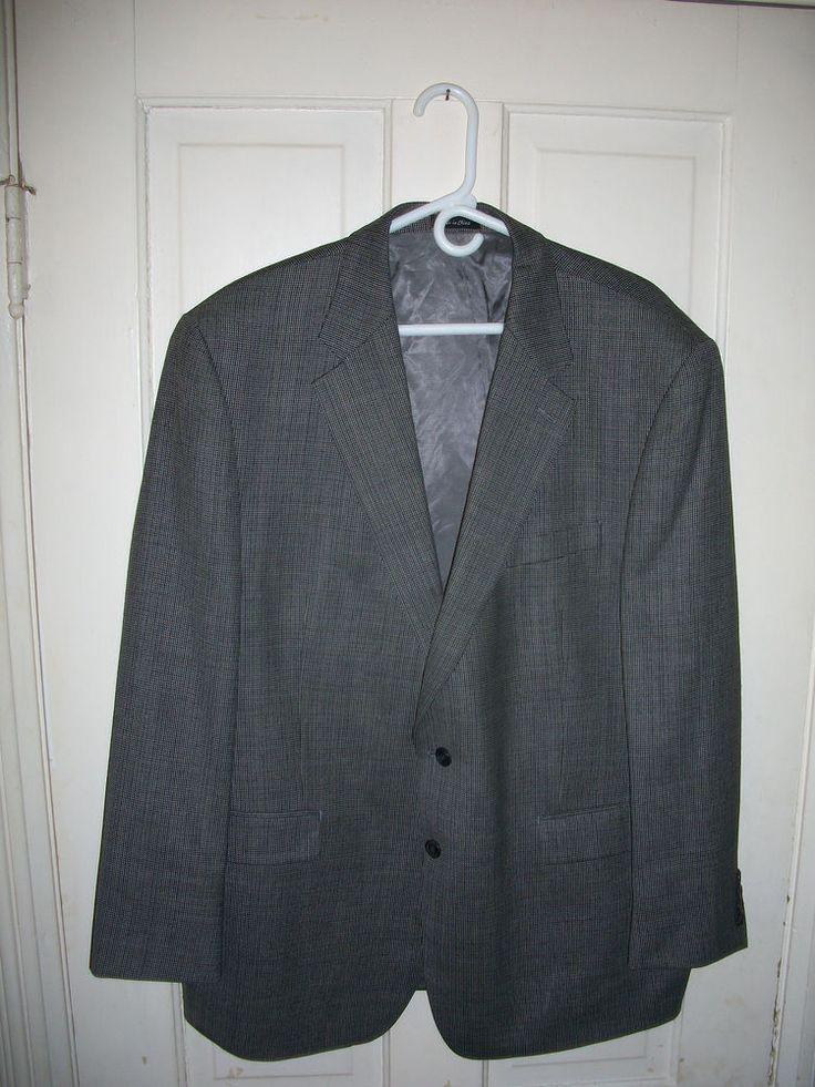 Mens Ralph Lauren Chaps 46 R Blazer 100% Wool #RalphLaurenChaps #TwoButton