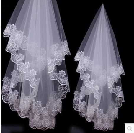 1 Layer 1.5m White Ivory Lace Bride Voile mariage Bridal Veil wedding accessories velos de novia veu de noiva com renda-in Bridal Veils from Weddings & Events on Aliexpress.com | Alibaba Group