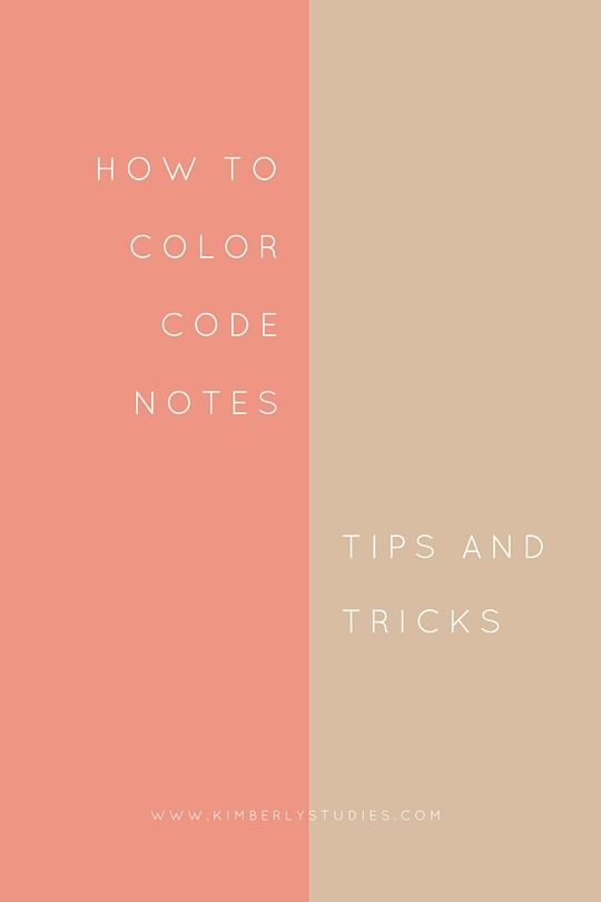 "kimberlystudies: """"I recently got a message asking how to color code notes, and because it was such a hit I decided to expand on the topic! "" Color coding your notes is proven to enhance your learning..."