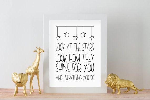 Coldplay Yellow Lyrics DIGITAL DOWNLOAD 8 x 10 Printable Nursery Home Decor Wall Sign