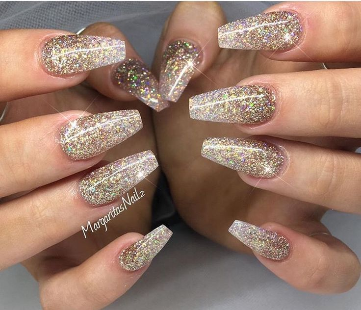 Best 25 gold glitter nails ideas on pinterest gold acrylic gold glitter ombre nails prinsesfo Image collections