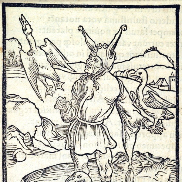 Fools, Far, Near, and Forever. This woodcut is attributed to the artist Albrecht Dürer. It is an illustration from the book Stultifera navis (Ship of Fools) by Sebastian Brant, published by Johann Bergmann in Basel in 1498. University of Houston.