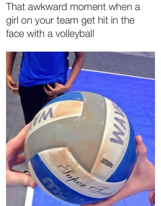 Yeah... No. A true volleyball player would have sweat off all of that makeup..