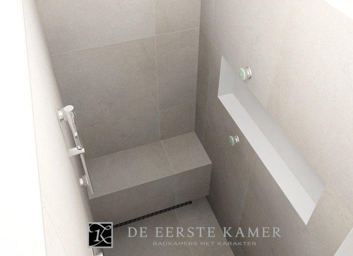 Bankje in douche bathrooms badkamers pinterest - Badkamer lay outs met douche ...