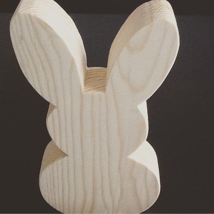 Hello from my Easter Bunny! Happy Easter everybody! #Easter #easterbunny #bunny #wooddecor #handmade #wooddenbunny