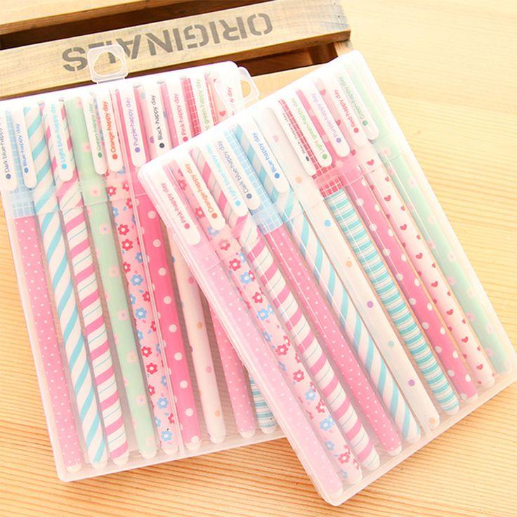 10 Pcs/Lot New Cute Creative Cartoon Colorful Gel Pen for School & Office Supply