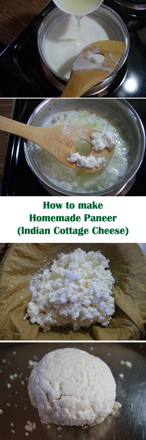 Learn how to make home made paneer (cottage cheese) in few easy steps.