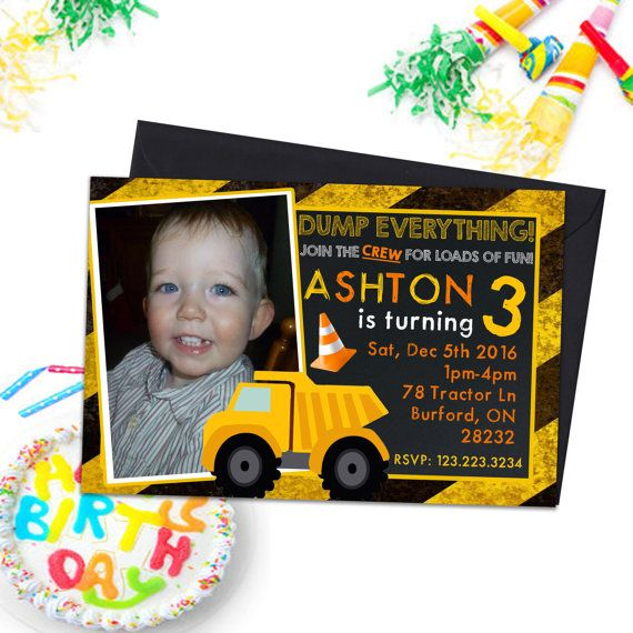 Construction Invitations Kids Party Invitations by PrintYourInvite #constructioninvites #invitations #partyinvites #kidspartyinvites #kidspartyinvitations #kidspartyprintables #birthdayinvitations #birthdaypartyinvites #constructioninvites #boysbirthdayinvites