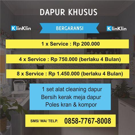 Harga Jasa Bersih Dapur Solo