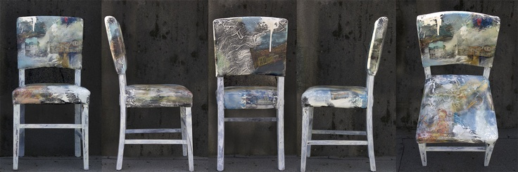 Chair I painted!  This is a picture from all angles.