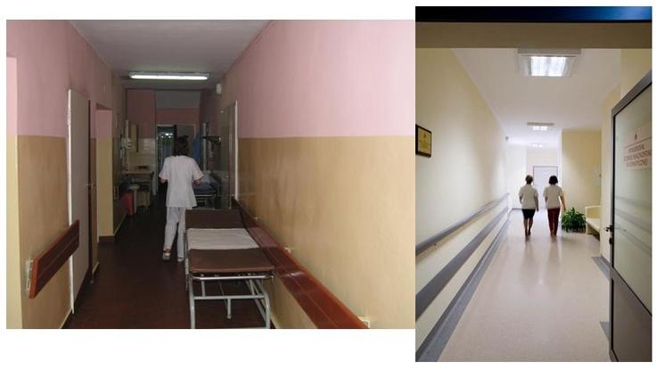 Korytarz Oddziału Ortopedii dla Dzieci - zakończenie remontu 2011 rok
